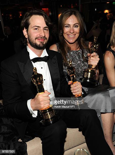 WEST HOLLYWOOD CA MARCH 07 *EXCLUSIVE* Mark Boal and Kathryn Bigelow attends the 2010 Vanity Fair Oscar Party hosted by Graydon Carter at the Sunset...