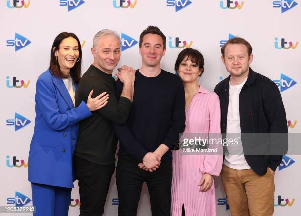 Mark Bonnar Sian Clifford James Graham Helen McCrory and Michael Jibson attend the Quiz photocall at Soho Hotel on February 24 2020 in London England