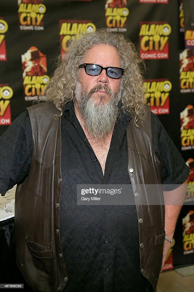 Mark Boone Junior poses in between meeting with fans during the Alamo City Comic Con at Henry B. Gonzalez Convention Center on September 12, 2015 in San Antonio, Texas.