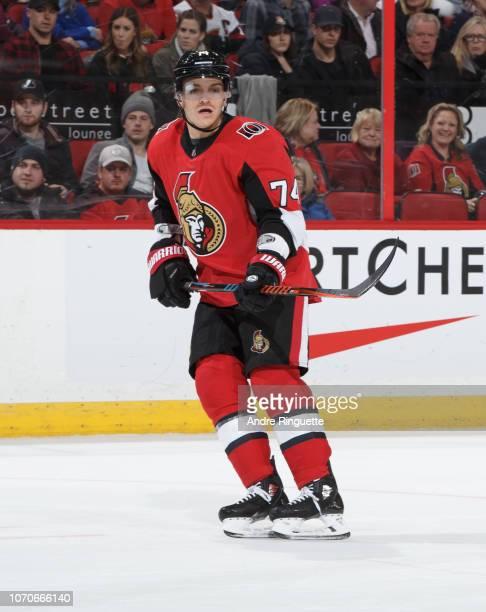 Mark Borowiecki of the Ottawa Senators skates against the Florida Panthers at Canadian Tire Centre on November 19 2018 in Ottawa Ontario Canada