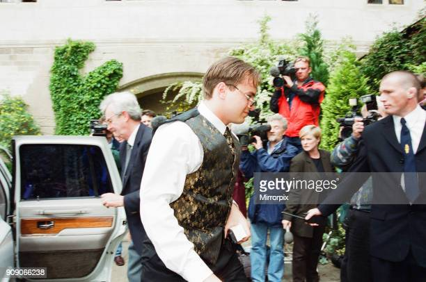 Mark Bosnich arrives for wedding to Sarah Jarret at Coombe Abbey Hotel Coventry Friday 4th June 1999 The Manchester United goalkeeper made it to the...
