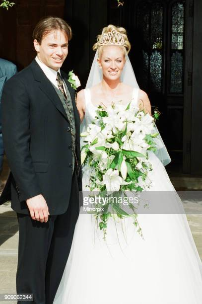 Mark Bosnich weds Sarah Jarret at the Coombe Abbey Hotel Coventry Friday 4th June 1999 The Manchester United goalkeeper made it to the church on time...