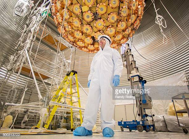 Mark Bouley shows the DEAP3600 Dark Matter Detector experiment to the Star The vessel filled with liquid argon and is surrounded by photomultiplier...