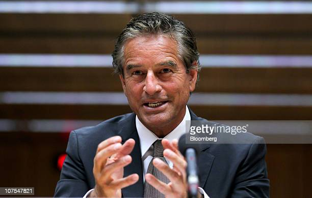 Mark Bouris chairman and cofounder of Yellow Brick Road Wealth Management speaks before a Senate inquiry into competition within the Australian...