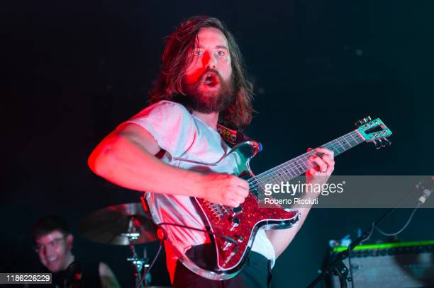 Mark Bowen of Idles performs live at Barrowland Ballroom on December 2 2019 in Glasgow Scotland