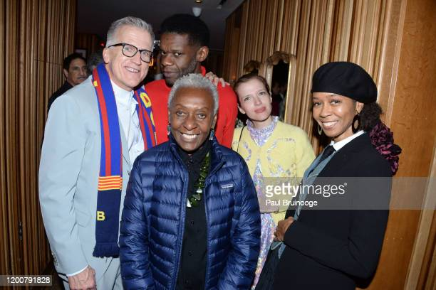 Mark Bozek Bethann Hardison Victor Glemaud Batsheva Hay and Romney Mueller attend MAC Nordstrom And The CFDA Host The After Party For The Times Of...