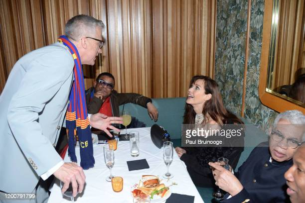 Mark Bozek George Wayne and Carol Alt attend MAC Nordstrom And The CFDA Host The After Party For The Times Of Bill Cunningham at Bistrot Leo on...