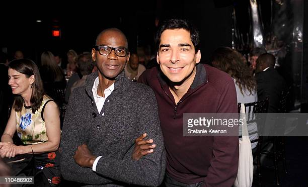 Mark Bradford and Allan DiCastro attend 2011 REDCAT Gala Honoring Eli Edythe Broad and Apichatpong Weerasethakul at REDCAT on March 19 2011 in Los...