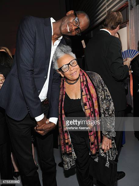 Mark Bradford and artist Betty Saar attend the 2015 MOCA Gala presented by Louis Vuitton at The Geffen Contemporary at MOCA on May 30 2015 in Los...