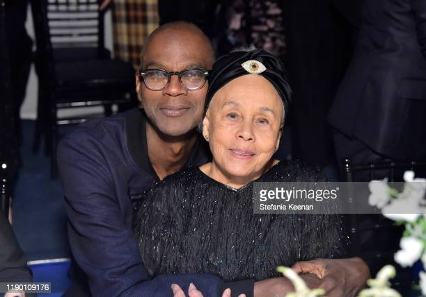 Mark Bradford and Betye Saar wearing Gucci attend the 2019 LACMA Art Film Gala Presented By Gucci at LACMA on November 02 2019 in Los Angeles...