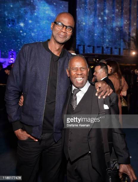 Mark Bradford and Charles Gaines attends the 2019 LACMA Art Film Gala Presented By Gucci at LACMA on November 02 2019 in Los Angeles California