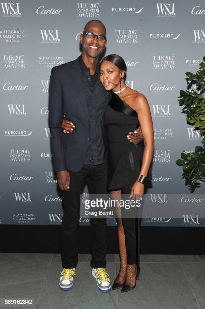 Mark Bradford and Naomi Campbell attend the WSJ Magazine 2017 Innovator Awards at MOMA on November 1 2017 in New York City