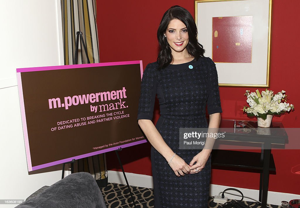 mark Brand Ambassador Ashley Greene speaks on Capitol Hill on NO MORE Day on March 13, 2013 in Washington, DC.