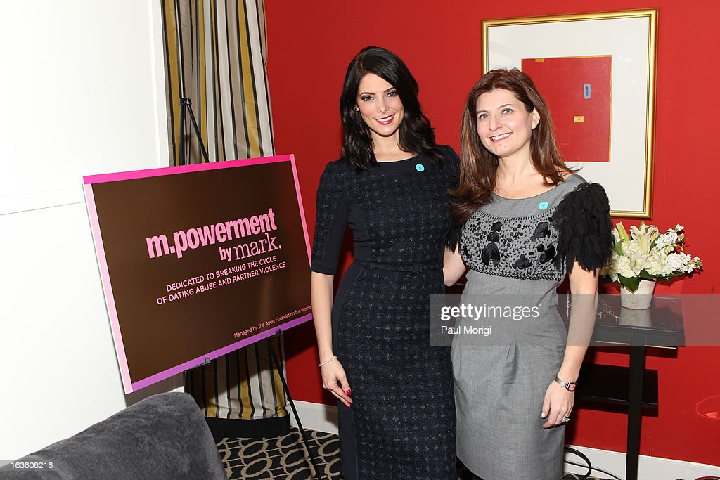 mark Brand Ambassador Ashley Greene speaks on Capitol Hill with mark President Meg Lerner on NO MORE Day on March 13, 2013 in Washington, DC.