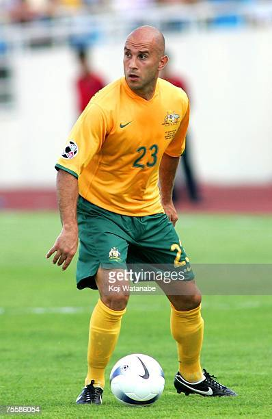 Mark Bresciano of Australia plays during the AFC Asian Cup 2007 Quarter Final between Japan and the Australian Socceroos at My Dinh National Stadium...