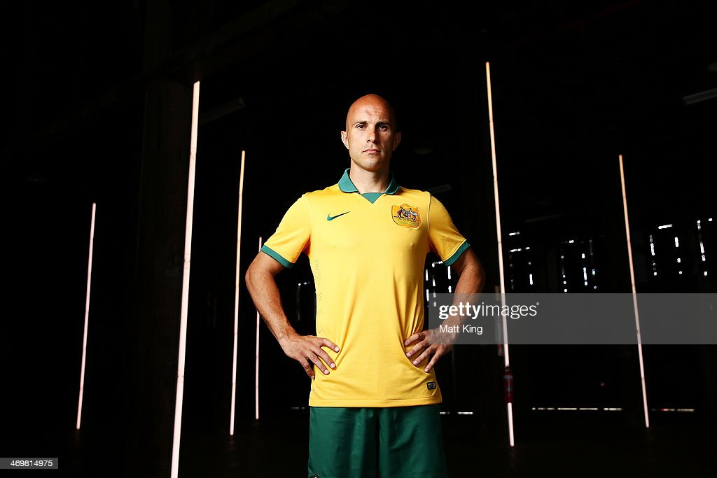 133d2949999 Mark Bresciano poses during the Australian Socceroos 2014 FIFA World ...