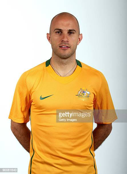 Mark Bresciano poses during the Australian Socceroos portrait session on March 2009 in Australia