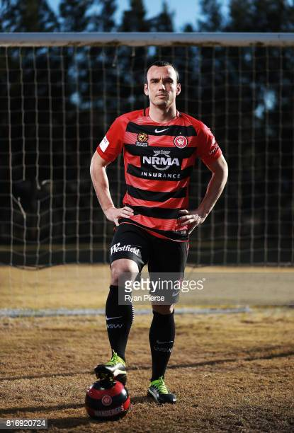 Mark Bridge poses during a portrait session Blacktown International Sportspark on July 18 2017 after signing with the Western Sydney Wanderers in...