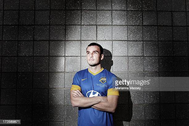 Mark Bridge poses for a portrait during the ALeague All Stars Player Announcement at ANZ Stadium on July 4 2013 in Sydney Australia