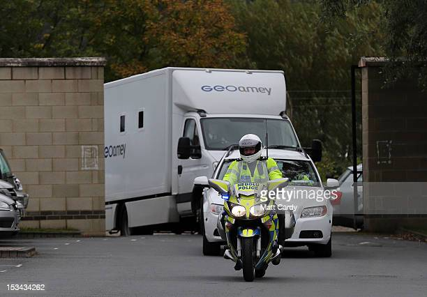 Mark Bridger is taken in a prison van from Aberyswyth police station to appear before magistrates in the town on October 5 2012 in Aberystwyth Wales...