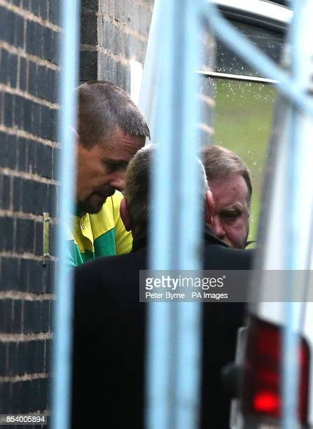 Mark Bridger of Mount Pleasant farmhouse in the village of Ceinws near Machynlleth is led from Mold Crown Court Flintshire Wales after pleading not...