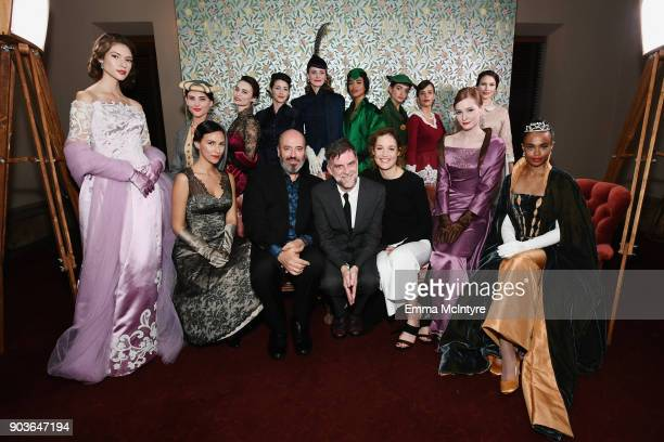 Mark Bridges Paul Thomas Anderson and Vicky Krieps and models attend Vanity Fair And Focus Features Celebrate The Film 'Phantom Thread' with Paul...