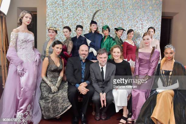 Mark Bridges Paul Thomas Anderson Vicky Krieps and models attend Vanity Fair And Focus Features Celebrate The Film 'Phantom Thread' with Paul Thomas...