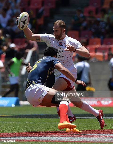 Mark Bright of England attacks during day 1 of the Cell C Nelson Mandela Bay Sevens Series at Nelson Mandela Bay Stadium on December 13 2014 in Port...