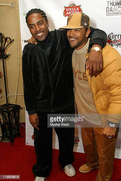 Mark Brown writer and director of The Salon and Dondre Whitfield
