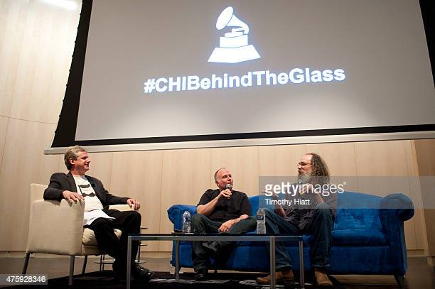 Mark Brunner Joe Barresi and Andrew Scheps attend Behind The Glass With Joe Barresi Andrew Scheps at Shure Inc on June 4 2015 in Niles Illinois