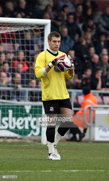 Mark Bunn of Northampton Town in action during the Coca Cola League One Match between Northampton Town and Swansea City at Sixfields Stadium on March...