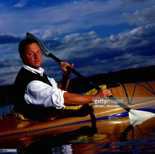 Mark Burliss of Great Lakes Chemical in a kayak undated