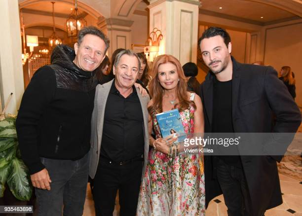 Mark Burnett Alec Gores Roma Downey and Jack Huston attend the 'Box of Butterflies' Book Party on March 20 2018 in Beverly Hills California
