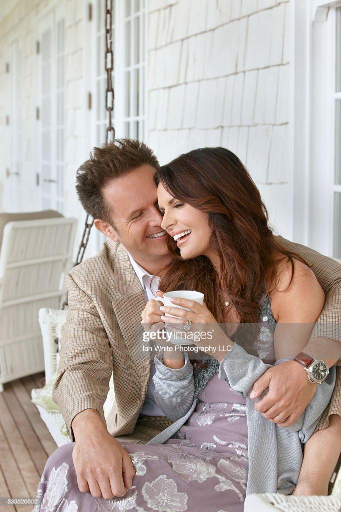 Mark Burnett and Roma Downey at Home