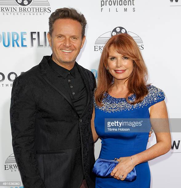 Mark Burnett and Roma Downey attend the LA premiere of 'Woodlawn' at Regency Bruin Theater on October 5, 2015 in Westwood, California.