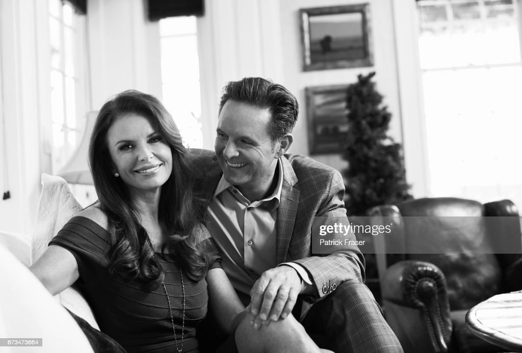 Mark Burnett and wife Roma Downey are photographed for Los Angeles Magazine on December 16, 2013 in Los Angeles, California.