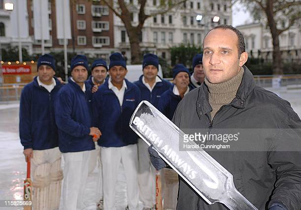 Mark Butcher during British Airways Charity Ice Cricket Match - December 13, 2006 at Natural History Museum in London, Great Britain.