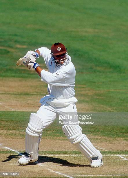 Mark Butcher of Surrey batting during the Britannic Assurance County Championship match between Middlesex and Surrey at Lord's Cricket Ground,...