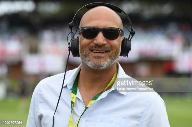 Mark Butcher of TalkSport looks on before the fifth day of the Third Test between England and South Africa on January 20, 2020 in Port Elizabeth,...