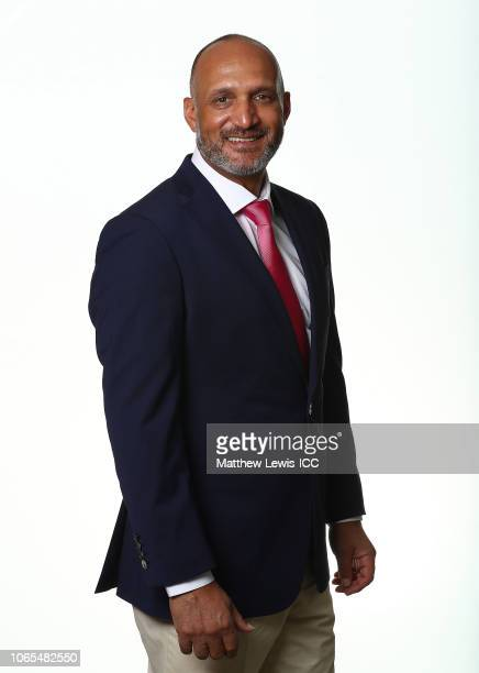 Mark Butcher poses during the Commentators Portraits session ahead of the ICC Women's World T20 2018 tournament on November 09, 2018 in Georgetown,...