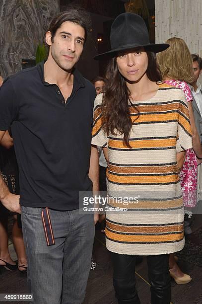 Mark Cancelliere and artist Tasya van Ree attend IWC Schaffhausen celebrates ''Timeless Portofino'' Gala Event during Art Basel Miami Beach to mark...