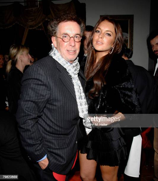Mark Canton and Lindsay Lohan attend the private dinner party for the 3rd Annual Los Angles ItaliaFilm Fashion Art Fest at Trastevere Restaurant on...