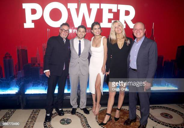 Mark Canton Jerry Ferrara Breanne Racano Tina Trahan and Chris Albrecht attend the Starz Power The Fifth Season NYC Red Carpet Premiere Event After...