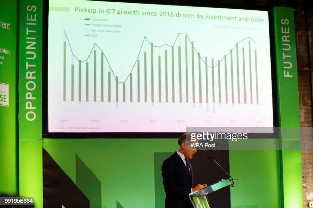 Mark Carney Governor of Bank of England addresses the Northern Powerhouse Business Summit Boiler Shop on July 5 2018 in Newcastle United Kingdom Mark...