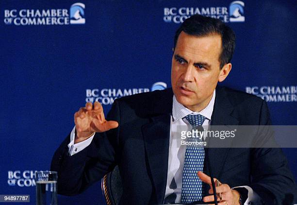 Mark Carney governor of the Bank of Canada speaks to the British Columbia Chamber of Commerce in Vancouver Canada on Monday Feb 18 2008 Carney...