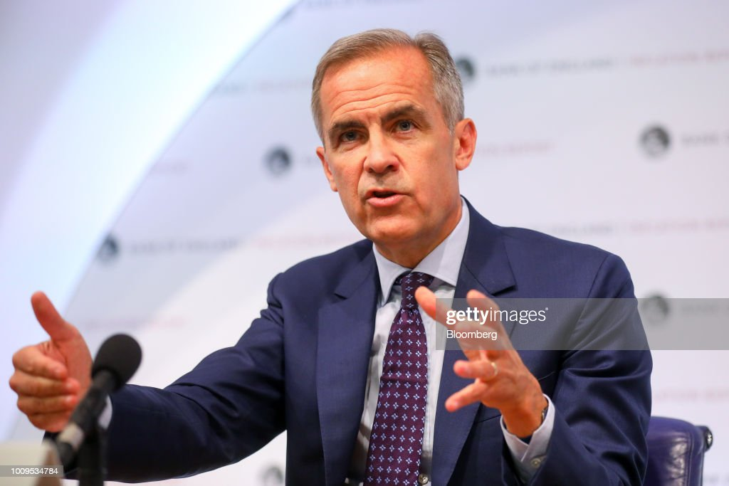 Bank Of England Rate Announcement And Inflation Report : News Photo