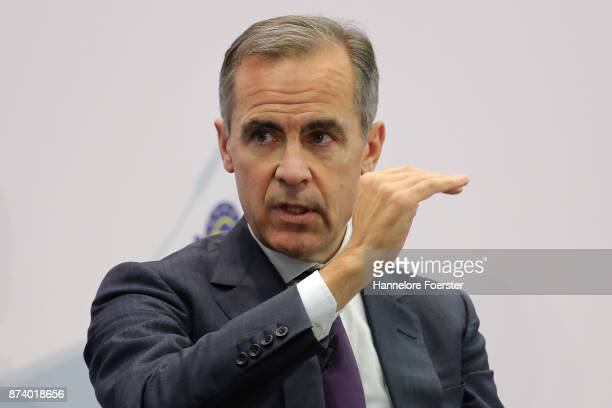 Mark Carney Governor of the Bank of England in a panel to discuss central bank communication on November 14 2017 in Frankfurt Germany The event which...