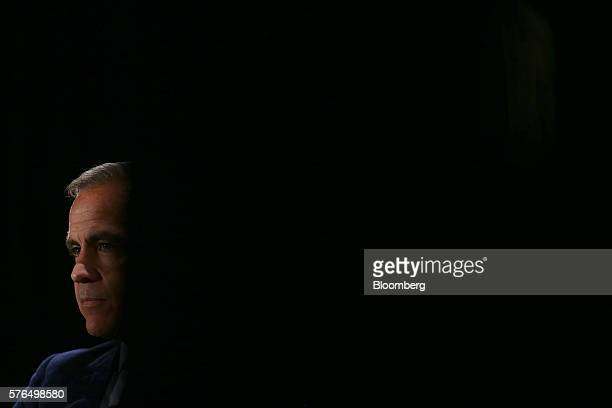 Mark Carney governor of the Bank of England listens during a Toronto Region Board of Trade event in Toronto Ontario Canada on Friday July 15 2016...
