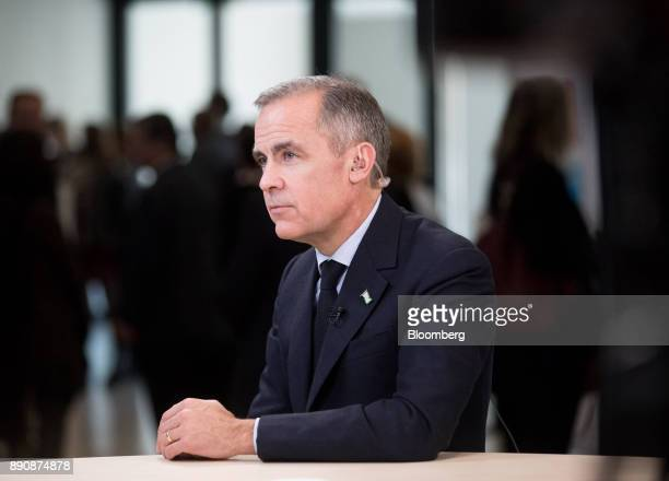 Mark Carney governor of the Bank of England pauses during a Bloomberg Television interview at the One Planet Summit in Paris France on Tuesday Dec 12...