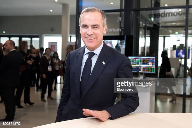Mark Carney governor of the Bank of England poses for a photograph following a Bloomberg Television interview at the One Planet Summit in Paris...
